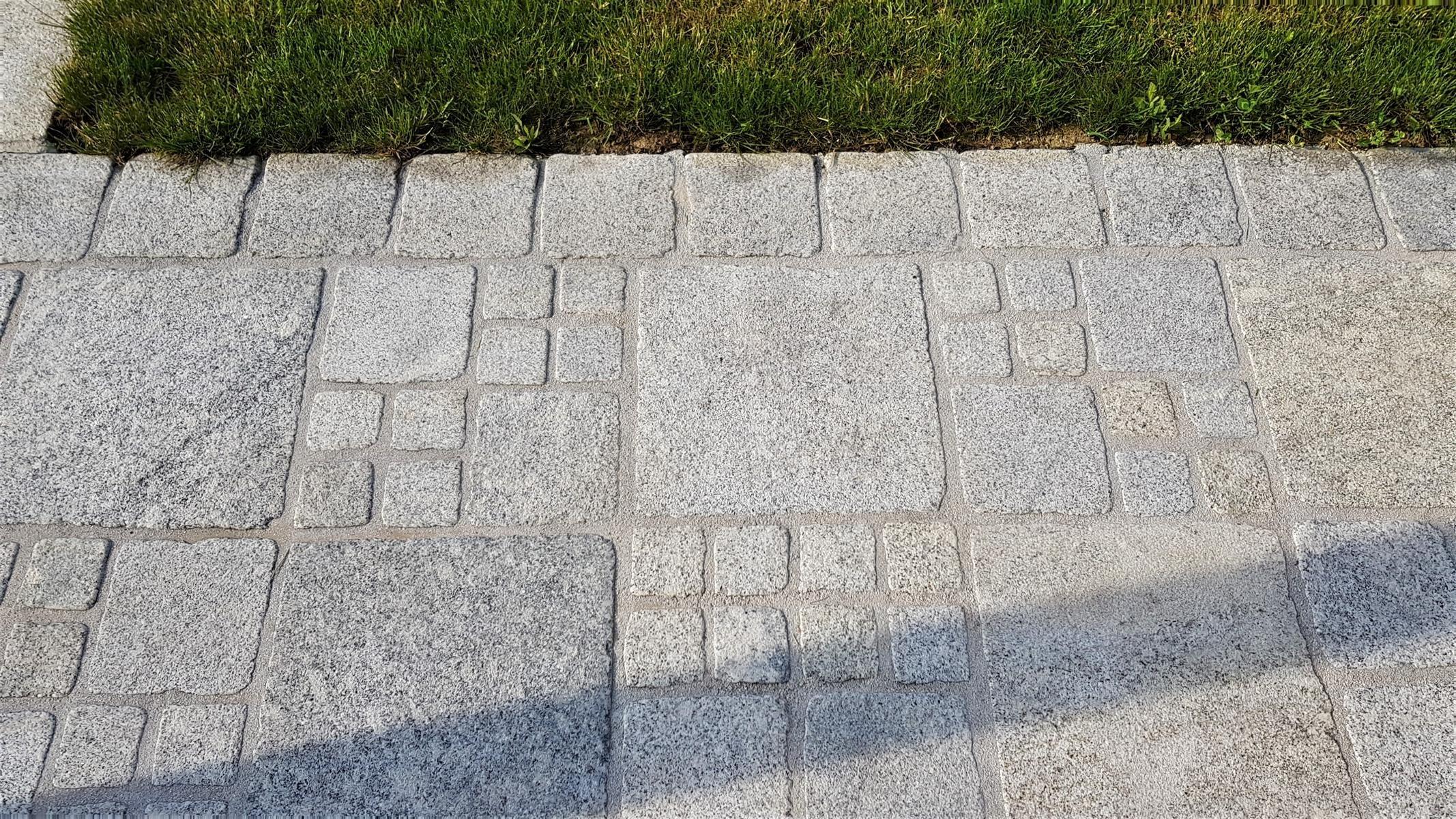 Granit Hellgrau Pflastersteine Elegant10