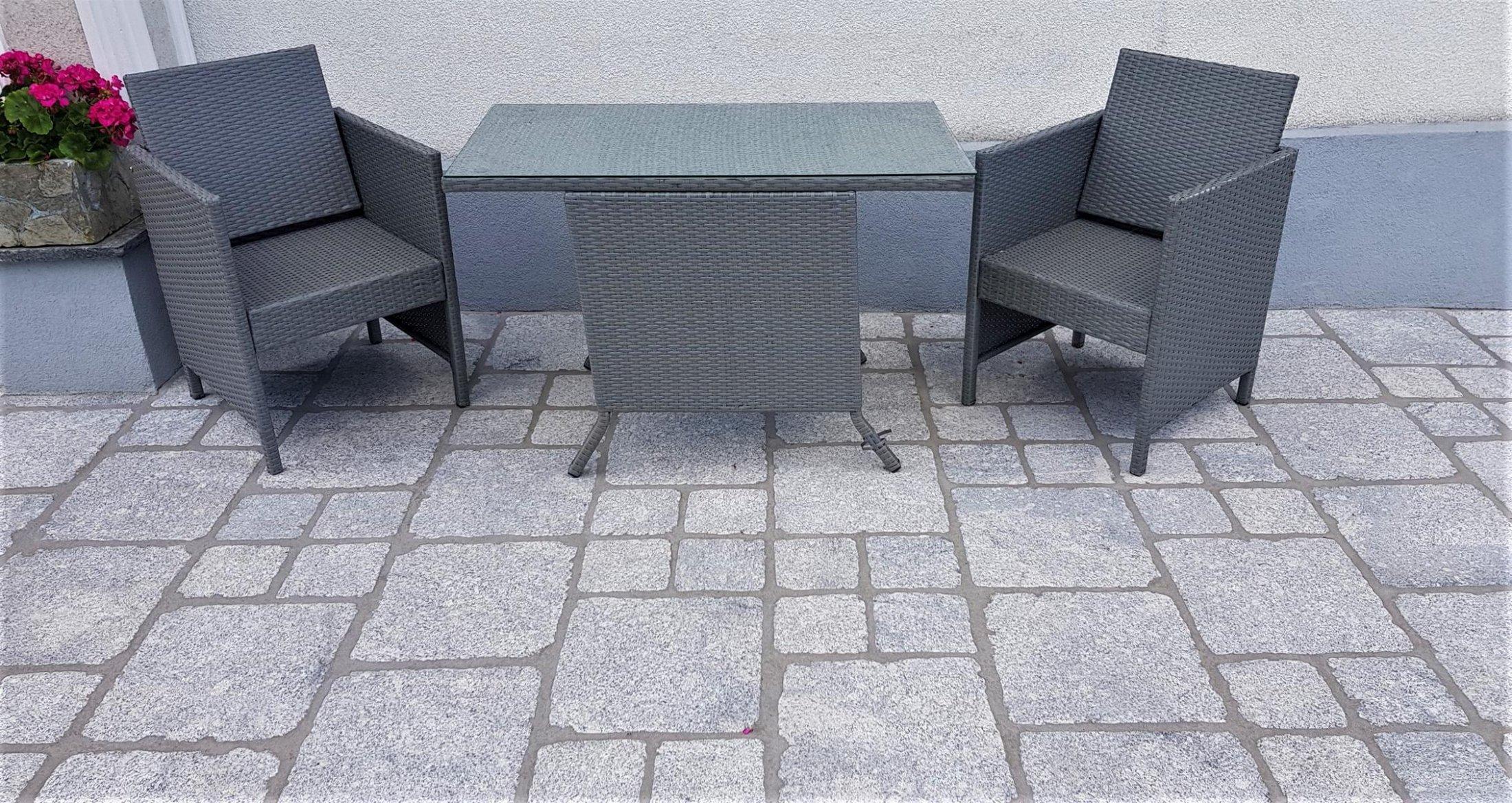 Granit Hellgrau Pflastersteine Elegant11