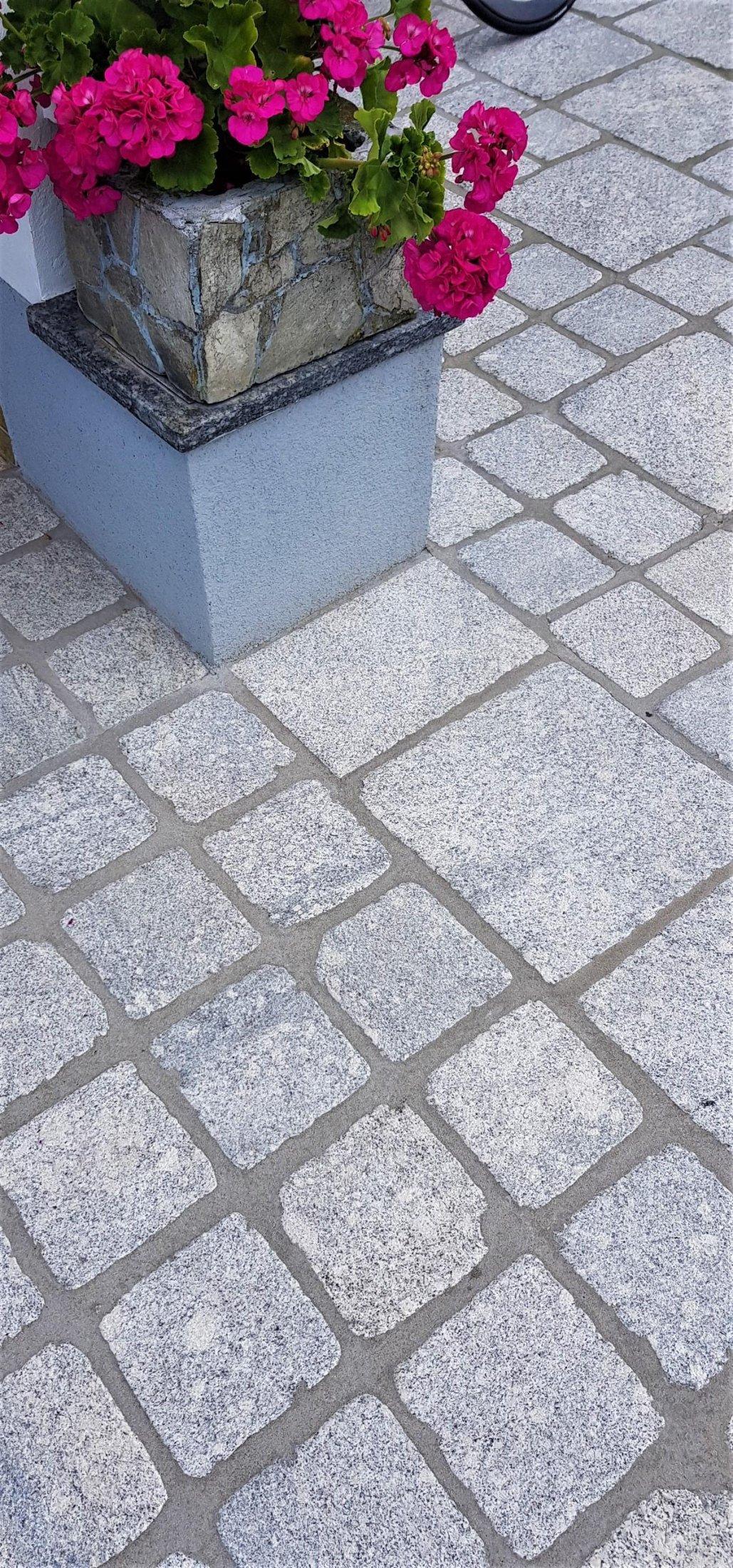Granit Hellgrau Pflastersteine Elegant12
