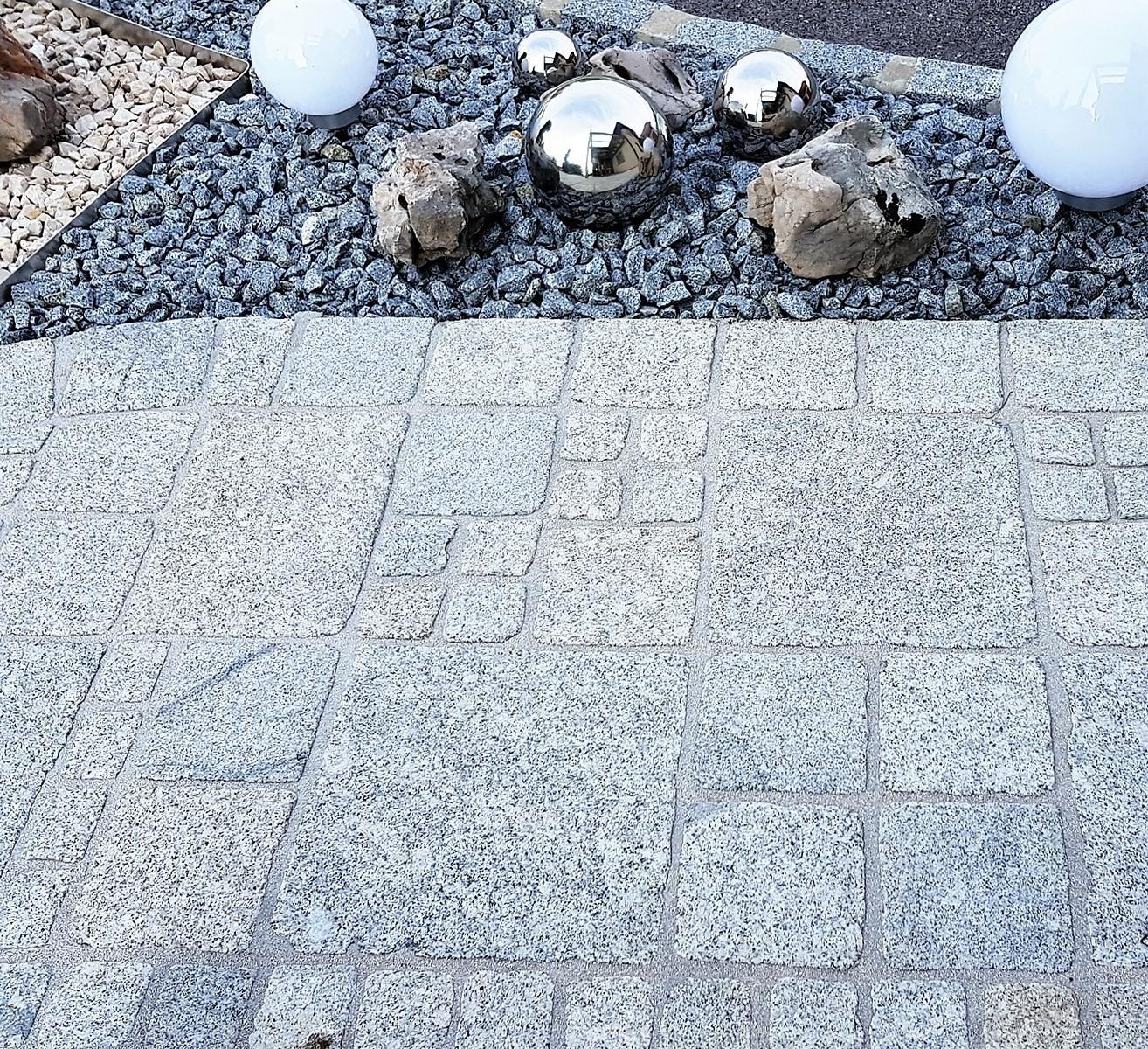 Granit Hellgrau Pflastersteine Elegant8