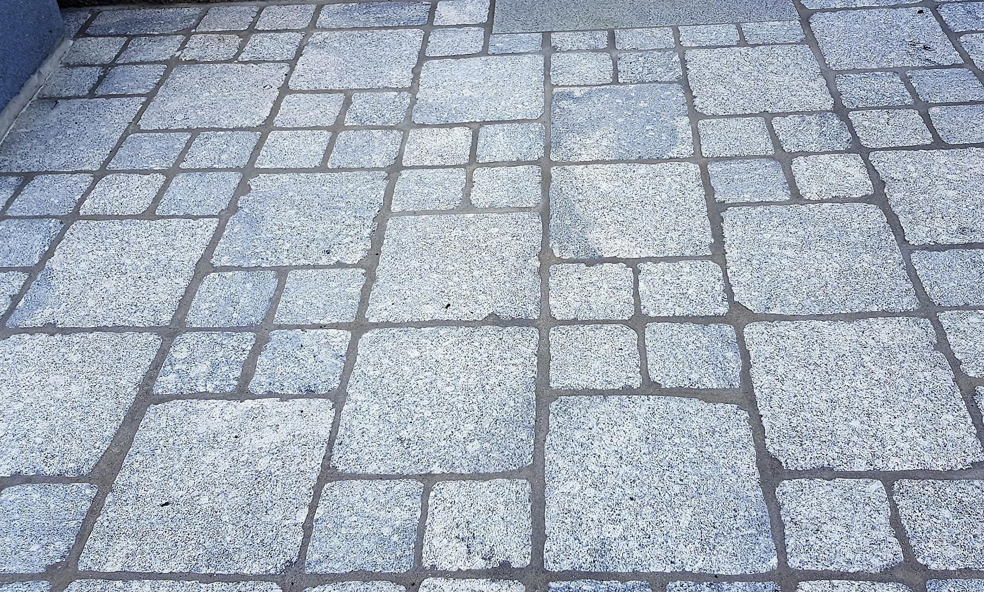 Granit Hellgrau Pflastersteine Elegant9
