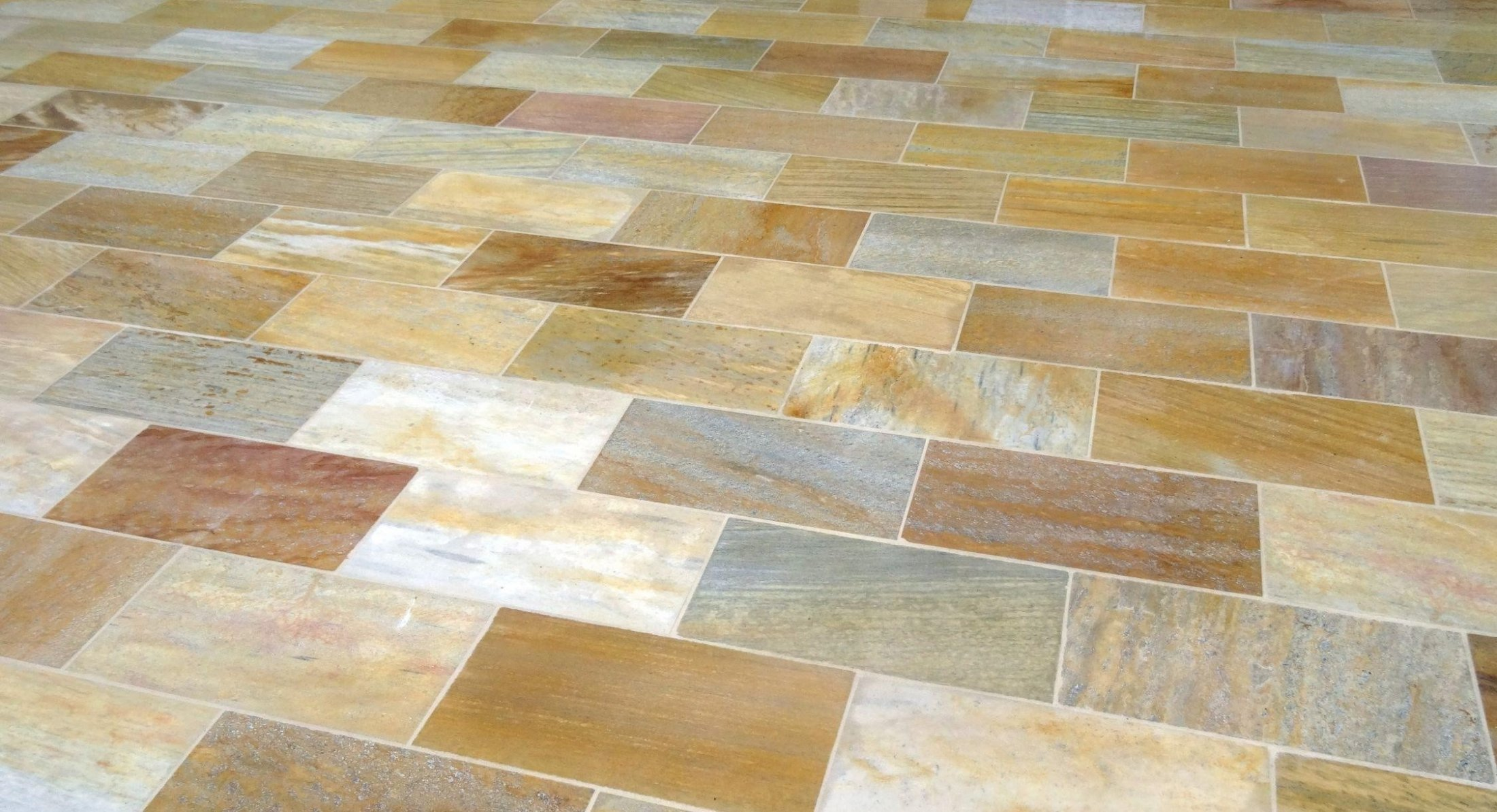 Quarzit Gelb Bodenplatten15