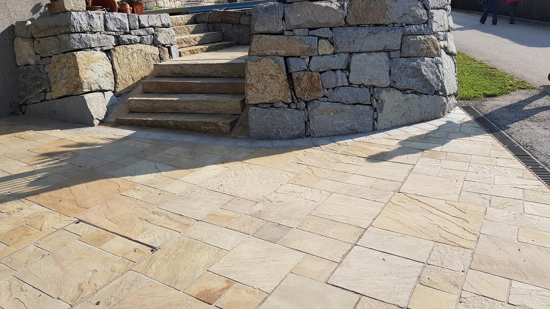 Sandstein Mint Bodenplatten16