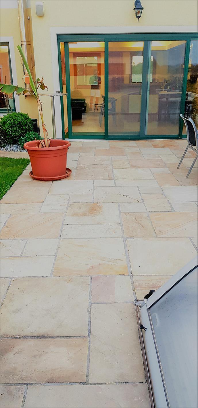 Sandstein Mint Bodenplatten6